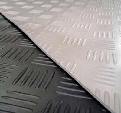 £0.99 • Buy Checker Plate PVC Rubber Flooring - 2mm Thick - 2.0m EXTRA WIDE