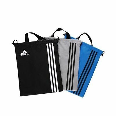 $11.37 • Buy ADIDAS Gray Golf Stripe Shoes Case Football Soccer Sports Gym Bag Authentic _mo