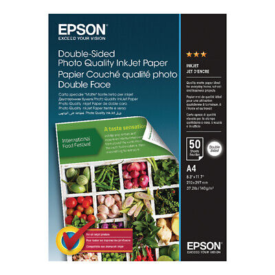 £13.86 • Buy Epson Double-sided Photo Quality Inkjet Paper A4 50 Sheets C13S400059