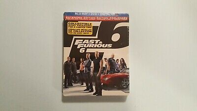 $ CDN19.99 • Buy Fast  Furious 6 (Blu-ray/DVD, 2013, 2-Disc Set, Steel Book Extended Edition) New