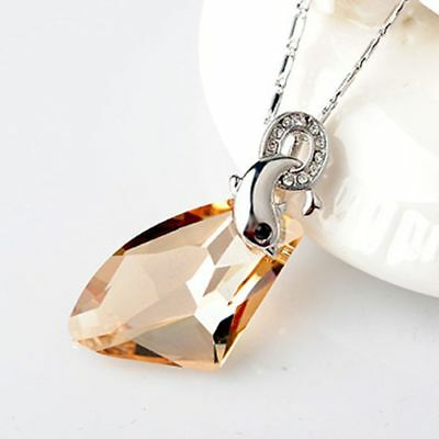 AU6.07 • Buy Jewelry 5 Color Beautiful Fashion For Women Dolphin Crystal Necklace