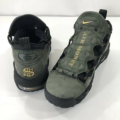 wholesale dealer c9e79 2e736 Nike Mens Air More Money QS Shoes Currency Dollar Green Black AJ7383-300 SZ  10.5