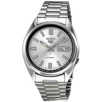 $ CDN127.88 • Buy Seiko 5 Automatic Silver Dial Stainless Steel Men's Watch SNXS73