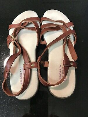 5695a633e5d Bass Brown SunJuns Sandals Women s Size 9 • 15.99