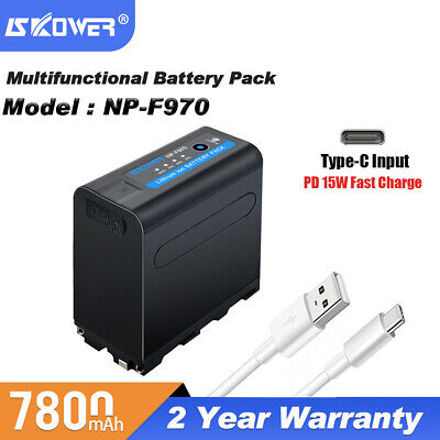 Super Rapid Charger for SONY NP-F930 F950 F960 F970 DSR-PD19 NP-F970 Battery
