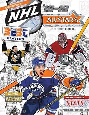 NHL All Stars 2018-19 Ultimate Hockey Coloring Book For Adul By Curcio Anthony • 23.23AU