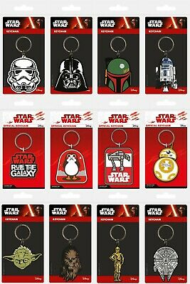£2.89 • Buy Star Wars Rubber Keychain Keyring * OFFICIALLY LICENSED ITEM - FAST UK DISPATCH*