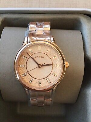 View Details Ladies Fossil Sophisticate Rose Gold Watch BNIB RRP £125.00 • 39.00£