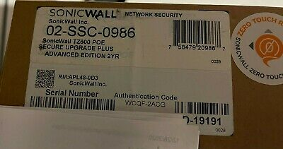 $1970 • Buy SONICWALL NSA2650 + 1YR TotalSecure Advanced Edition (12/2020) + Extra Subs!