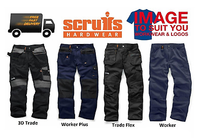 Scruffs Hard Wearing Multi-Pocket Work Trousers Various Styles, Colour And Sizes • 37.99£