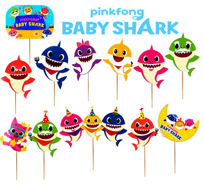 $5.99 • Buy BABY SHARK CUPCAKE CAKE TOPPER CUP Decoration Supplies Party Balloon BLOWER