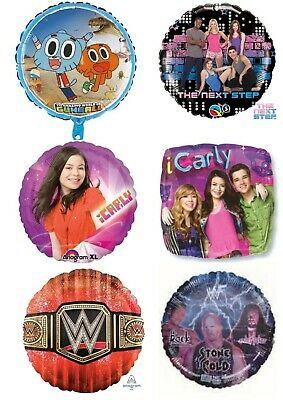 Kids TV Helium Balloons Party Ware Decoration ICarly Victorious Fosters Home WWE • 2.40£