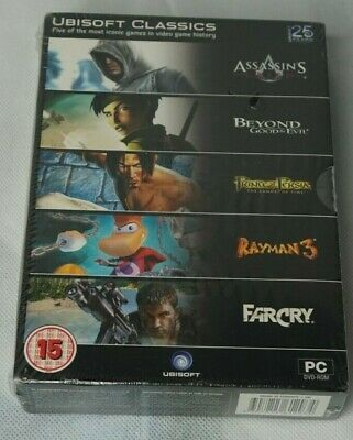 AU23.13 • Buy Ubisoft Classics - 5 Game Pack PC Creed Far Cry Rayman 3 Persia Good Evil NEW