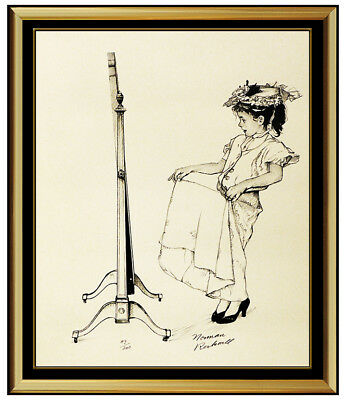 $ CDN3860.19 • Buy Norman Rockwell Dressing Up Lithograph Hand Signed Original Illustration Artwork