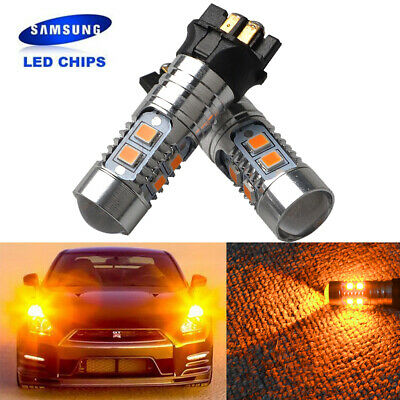 Amber  PWY24W PWY24W LED Bulbs Error Free Signal Lights ,DRL Lamp Audi Q3 VW BMW • 8.99£