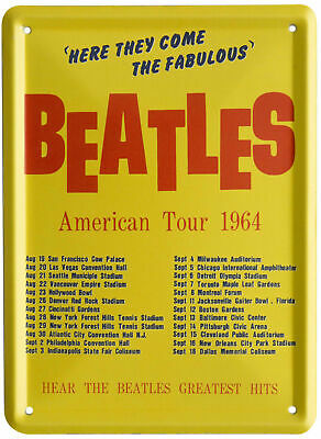 £5.99 • Buy The Beatles 1964 AMERICAN TOUR Metal Wall Sign Steel Plaque Gift (20cm X 30cm)