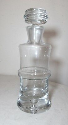 $138.99 • Buy Vintage Mold Blown Clear Thick Crystal Glass Liquor Wine Decanter Glass Bottle