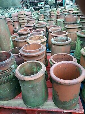 Chimney Pots, Small Terracotta Red Clay Pots, Mixed Style, £40 + Vat Each, • 48£
