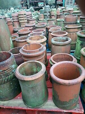 £48 • Buy Chimney Pots, Small Terracotta Red Clay Pots, Mixed Style, £40 + Vat Each,
