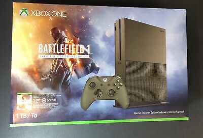 $349.50 • Buy XBOX ONE S 1TB Military Green Battlefield 1 Limited Edition Bundle NEW