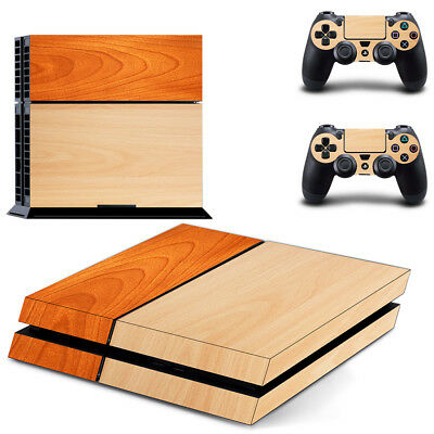 AU8.95 • Buy Playstation 4 PS4 Console Skin Decal Sticker Light Wood +2 Controller Skin