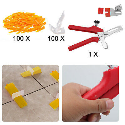 200x Tile Leveling Spacer System Tool Clips & Wedges Flooring Lippage Plier • 10.69£