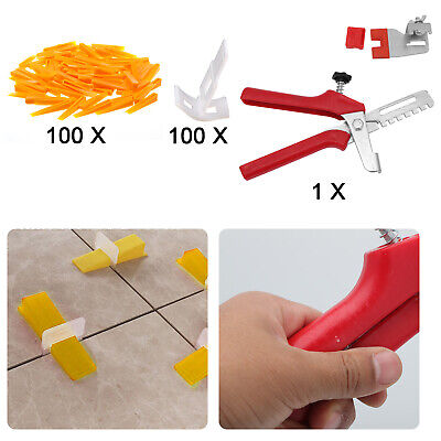 UK 200 X Tile Leveling Spacer System Tool Clips Wedges Flooring Lippage Plier • 7.99£