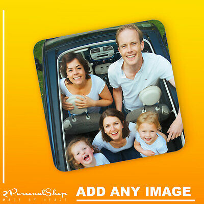 Personalised Photo Coaster Printed Cup Mat MDF Custom Any Image Any Text • 4.99£