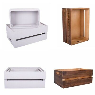 Superb Wooden Apple Crate Retail Display Shelf Box Storage Christmas Gift Hamper • 10.99£
