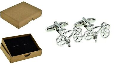 £7.75 • Buy Racing Bike Bicycles Cycling Cyclists Cufflinks Men's Dads Fathers Day +Box BE47