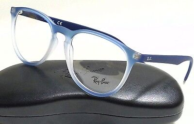 acc9cd675bb02 New Authentic RAY-BAN RX7046 5601 Blue Gradient Rubber 53 18 145 Rx
