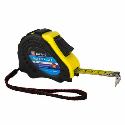 5m 7.5m/10m  Retractable Tape Measure Griplock Imperial Metric Measuring Metres • 7.50£