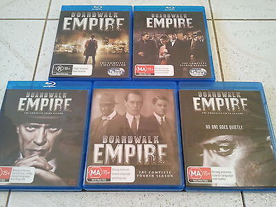 AU95 • Buy Boardwalk Empire Blu Ray Hbo Series Complete Seasons 1-5 Collection