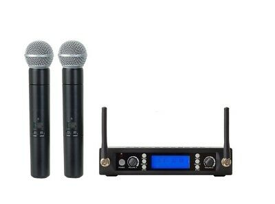 UHF Professional Dual Wreless Cordless Microphone Mic System For Sony Wireless • 106.57£