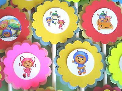 30 TEAM UMIZOOMI Cupcake Toppers Birthday Party Favors Baby Shower Decor O 1425