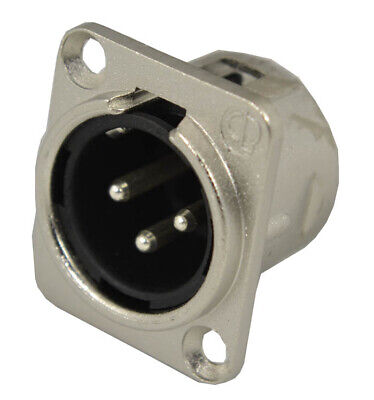 £1.95 • Buy Cobra XLR Male Panel Socket 3 Pin, For Microphone Input, Standard D Cut-out