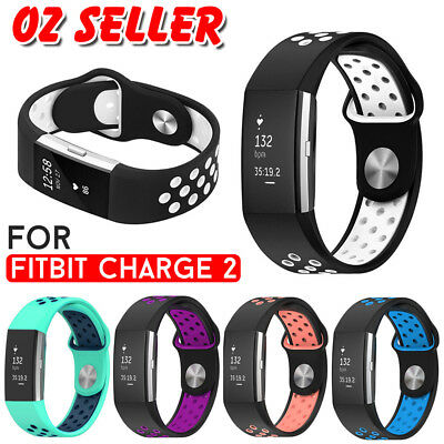AU8.95 • Buy Fitbit Charge 2 Sports Watch Band Strap Soft Silicone Bracelet Smart Wristbands