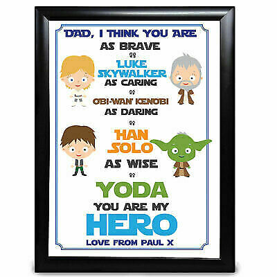 £4.99 • Buy Personalised Dad Daddy Gifts Star Wars Fathers Day Birthday Keepsake Name Print