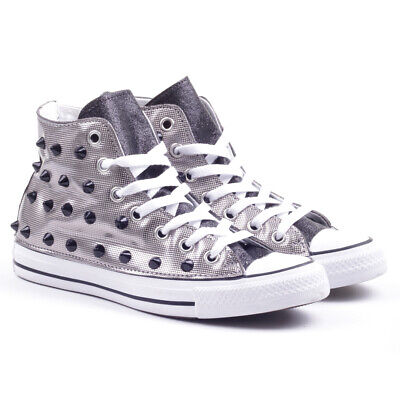 converse sneakers donna argento