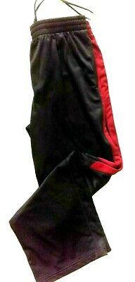$10.99 • Buy Tek Gear Womens Athletic Fitness Workout Pants Size L Black/Red Seam