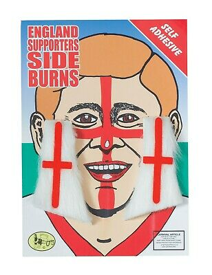 £3.50 • Buy England Flag St Georges Day Sideburns Fancy Dress Football Supporters