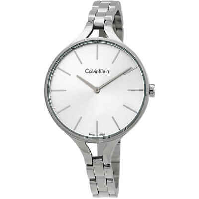 £37.26 • Buy Calvin Klein Graphic Silver Dial Bangle Ladies Watch K7E23146