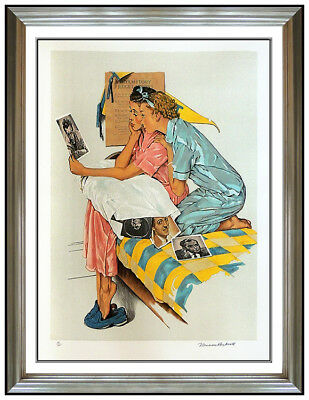 $ CDN3860.19 • Buy Norman Rockwell Saturday Evening Post Lithograph Hand Signed Dreamboats Artwork