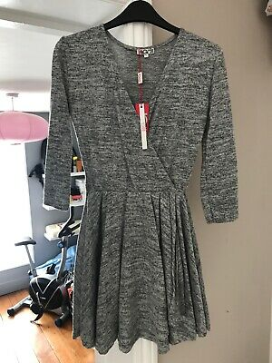 Wal G @ Topshop Jersey Wrap Skater Dress Size M/l With Tags • 6.99£