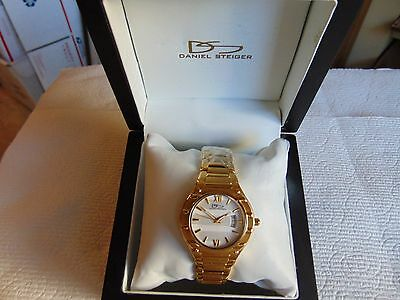 Daniel Steiger 36mm Women's  Broadway Gold  18K Fused Gold Stainless Steel Watch • 129$