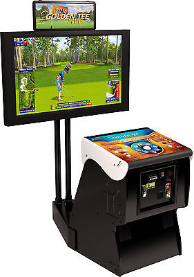 $5168 • Buy 2020 Golden Tee Golf Live Arcade Game With Monitor Stand (NIB)