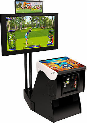 $5168 • Buy 2021 Golden Tee Golf Live Arcade Game With Monitor Stand (NIB)
