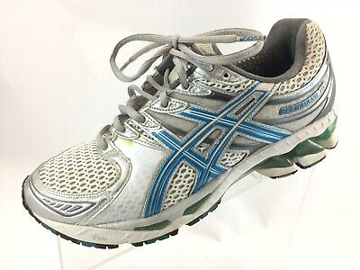 $26.99 • Buy SH17 Asics Women 8.5 EUR 40 Gel Kayano 16 Blue Silver Athletic Running Sneakers