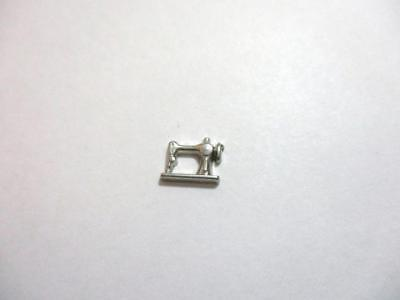 $2.01 • Buy Silver Tone Sewing Machine Floating Charm For Memory Locket E10
