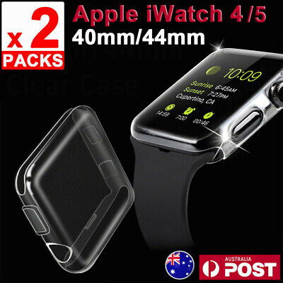 AU9.95 • Buy 2x For Apple Watch Series 4 / 5 IWatch 40/44mm Clear TPU Screen Protector Case